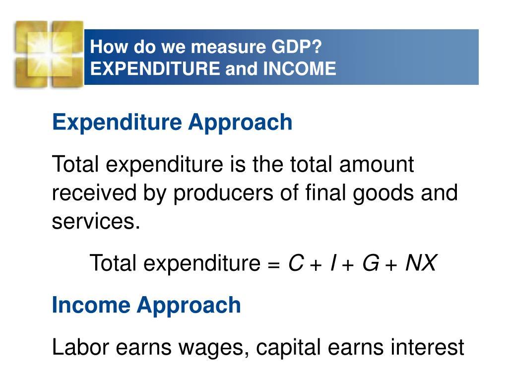 How do we measure GDP?