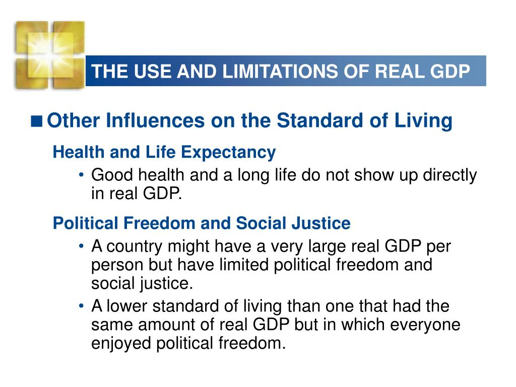THE USE AND LIMITATIONS OF REAL GDP