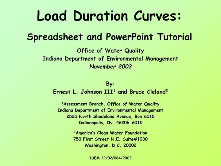 load duration curves spreadsheet and powerpoint tutorial n.