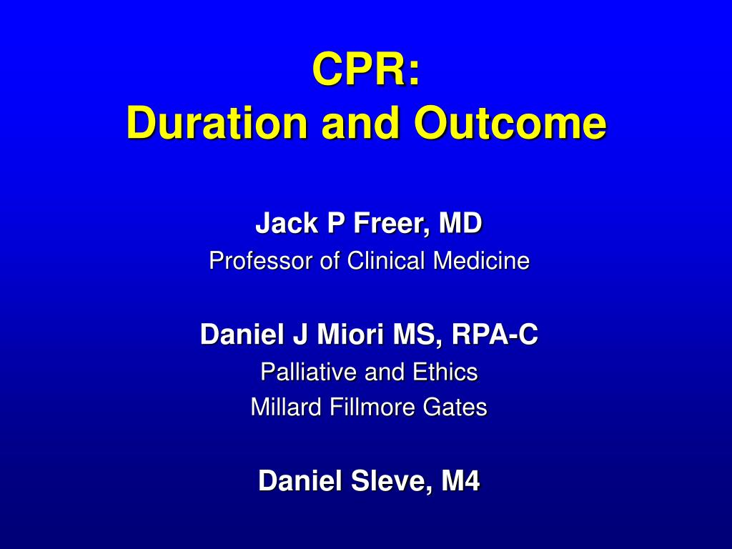 cpr duration and outcome l.