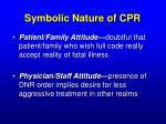 symbolic nature of cpr13