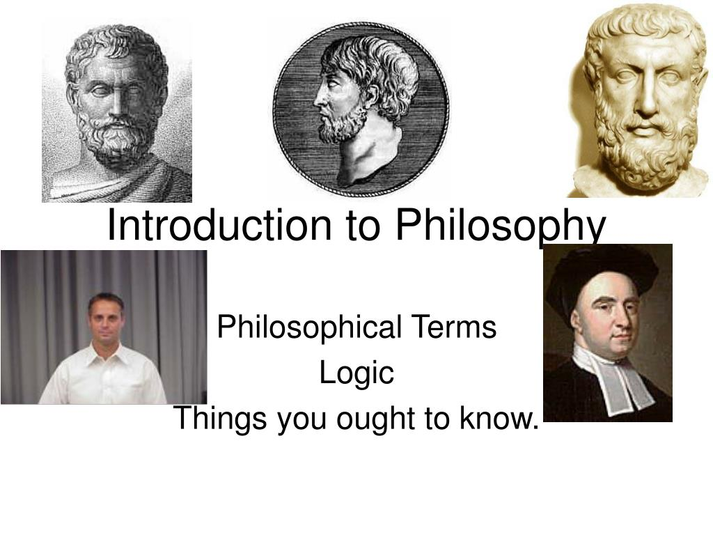 introduction to philosophy l.