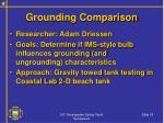 grounding comparison
