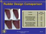 rudder design comaparison
