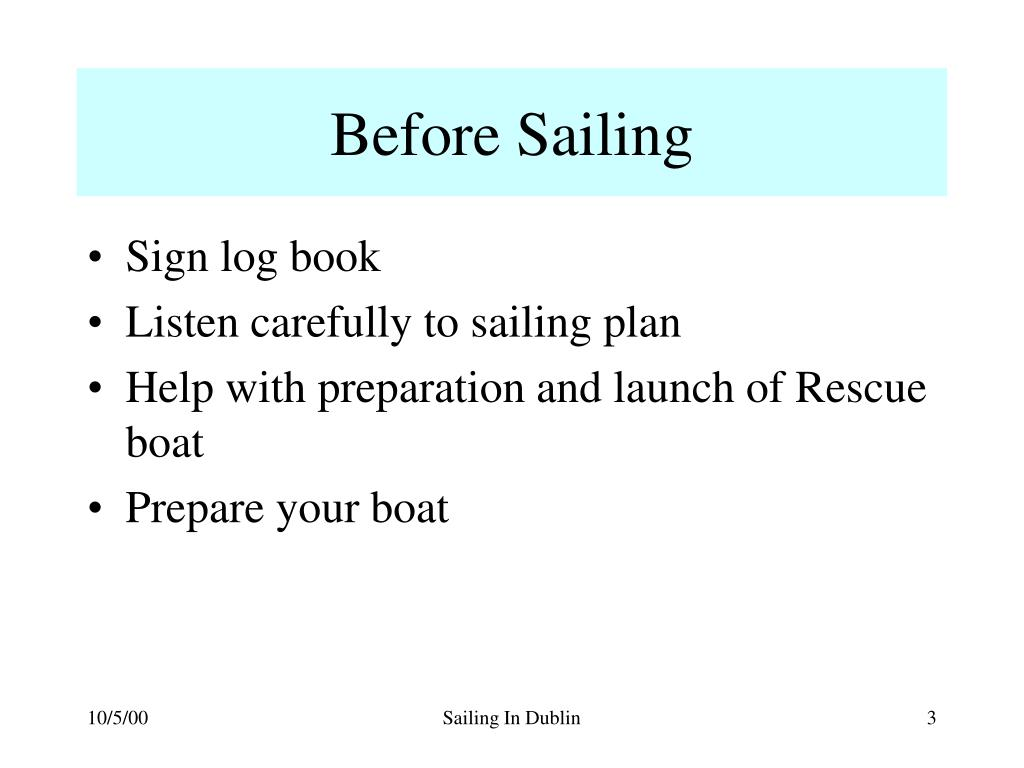 Before Sailing