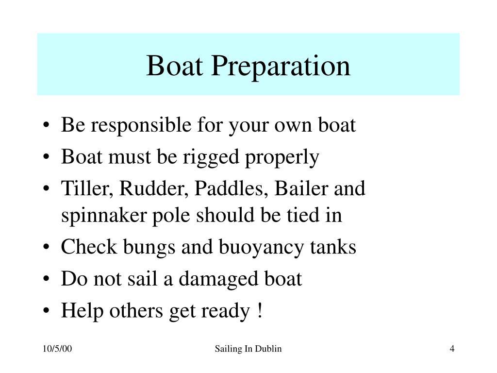 Boat Preparation