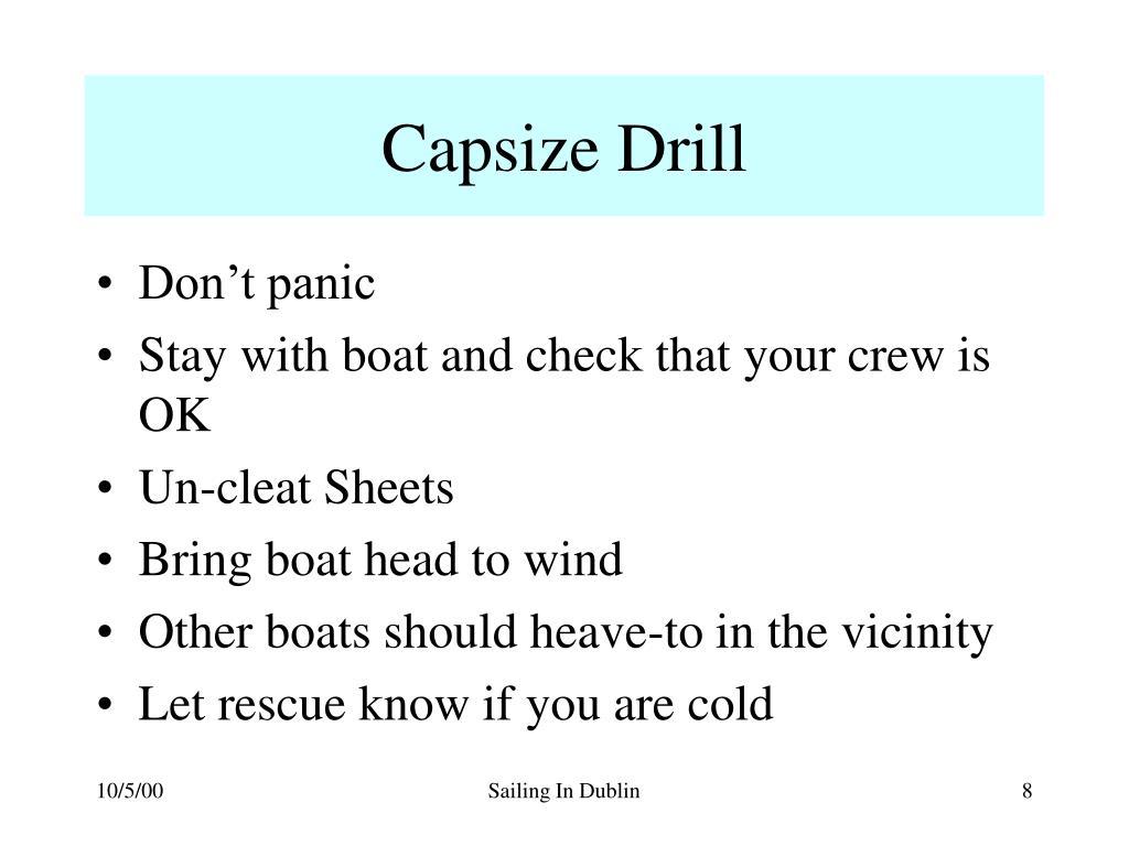 Capsize Drill