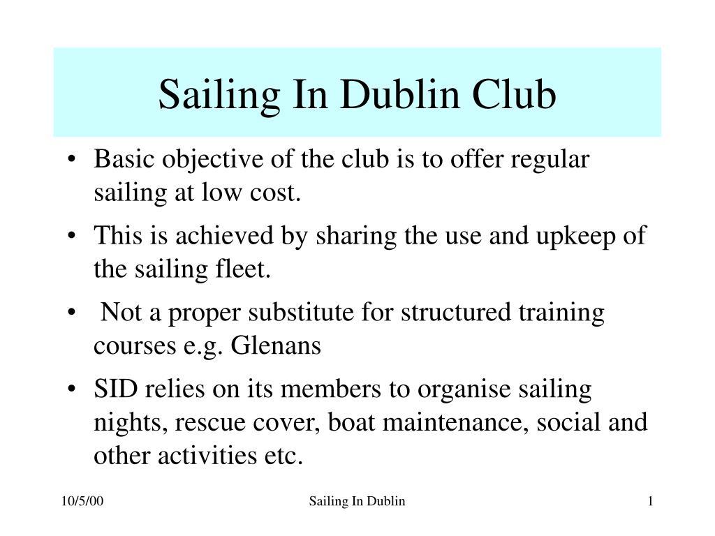 sailing in dublin club l.