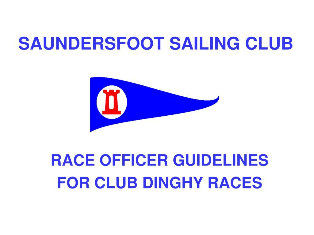 saundersfoot sailing club l.