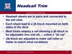 headsail trim