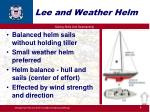 lee and weather helm