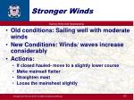stronger winds
