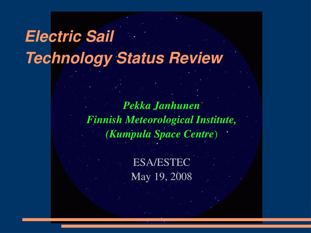 pekka janhunen finnish meteorological institute kumpula space centre esa estec may 19 2008