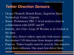 tether direction sensors