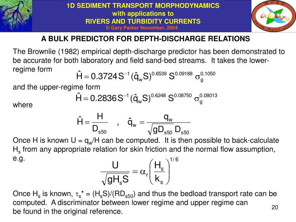 PPT - CHAPTER 9: RELATIONS FOR HYDRAULIC RESISTANCE IN