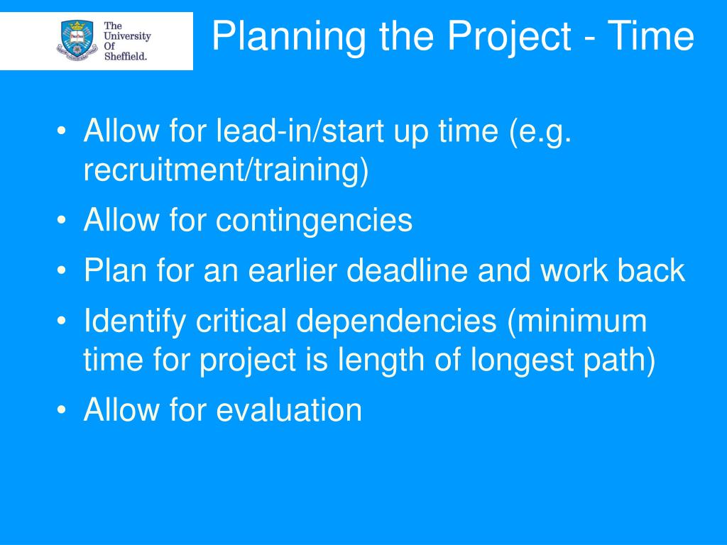 Planning the Project - Time