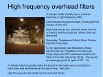 high frequency overhead filters