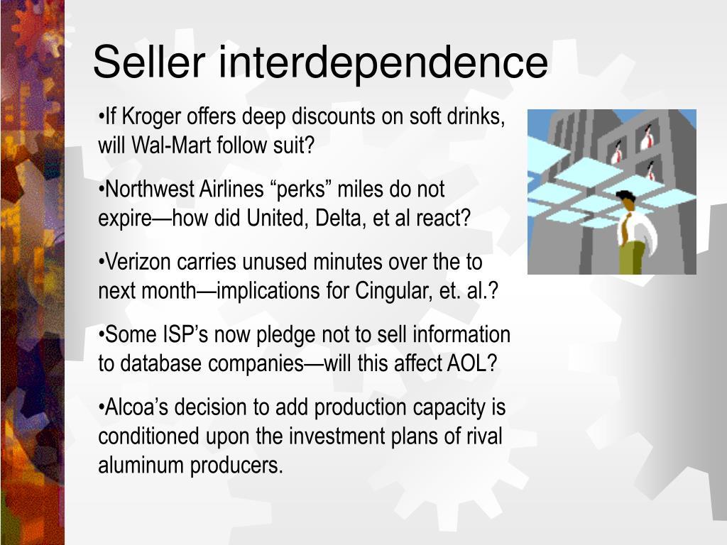 Seller interdependence
