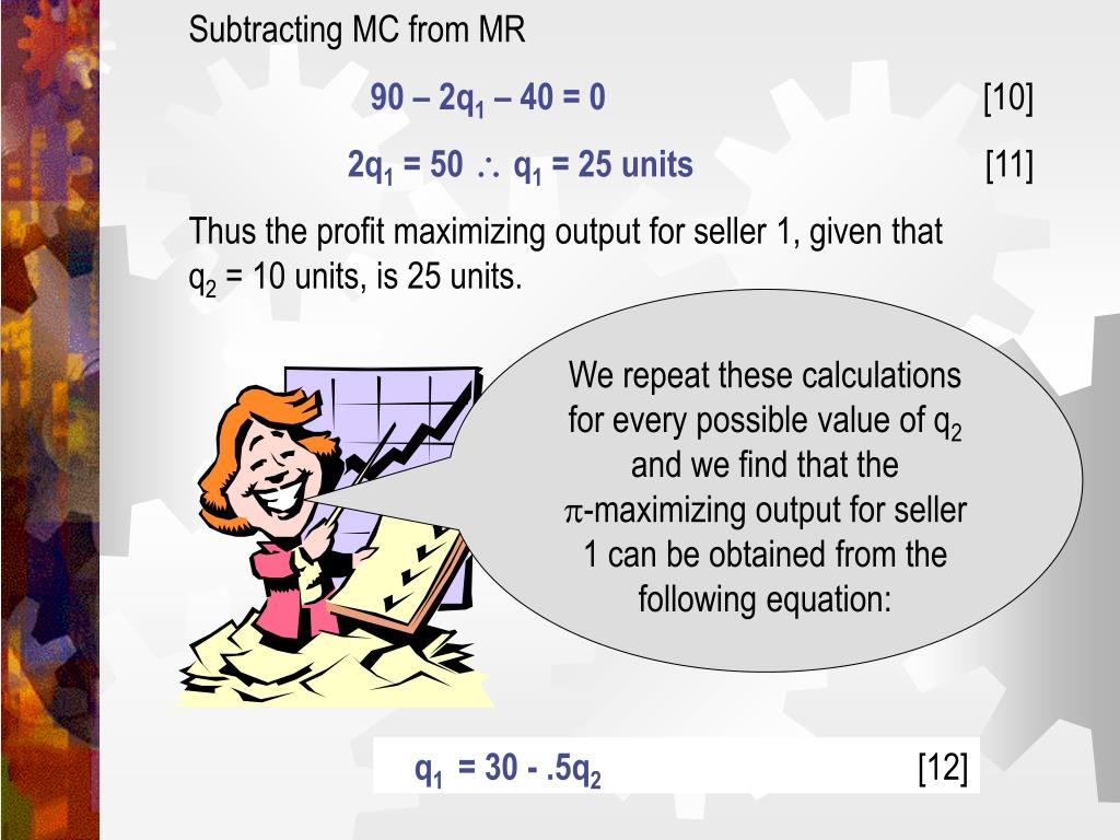 Subtracting MC from MR