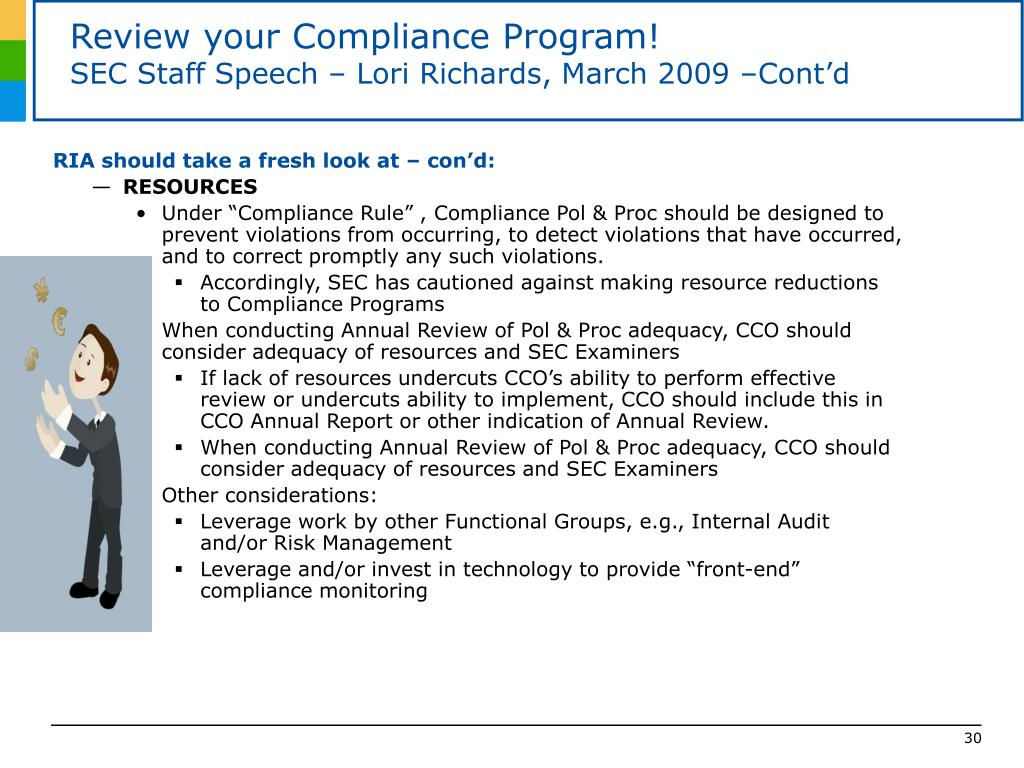 Review your Compliance Program!
