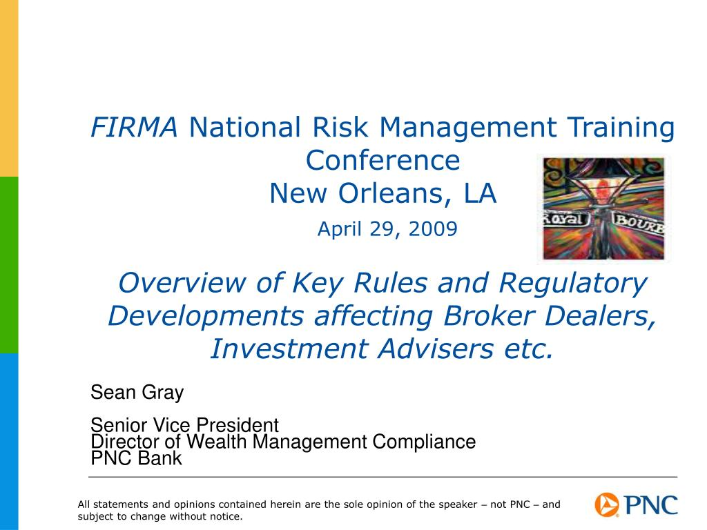 PPT - Sean Gray Senior Vice President Director of Wealth Management