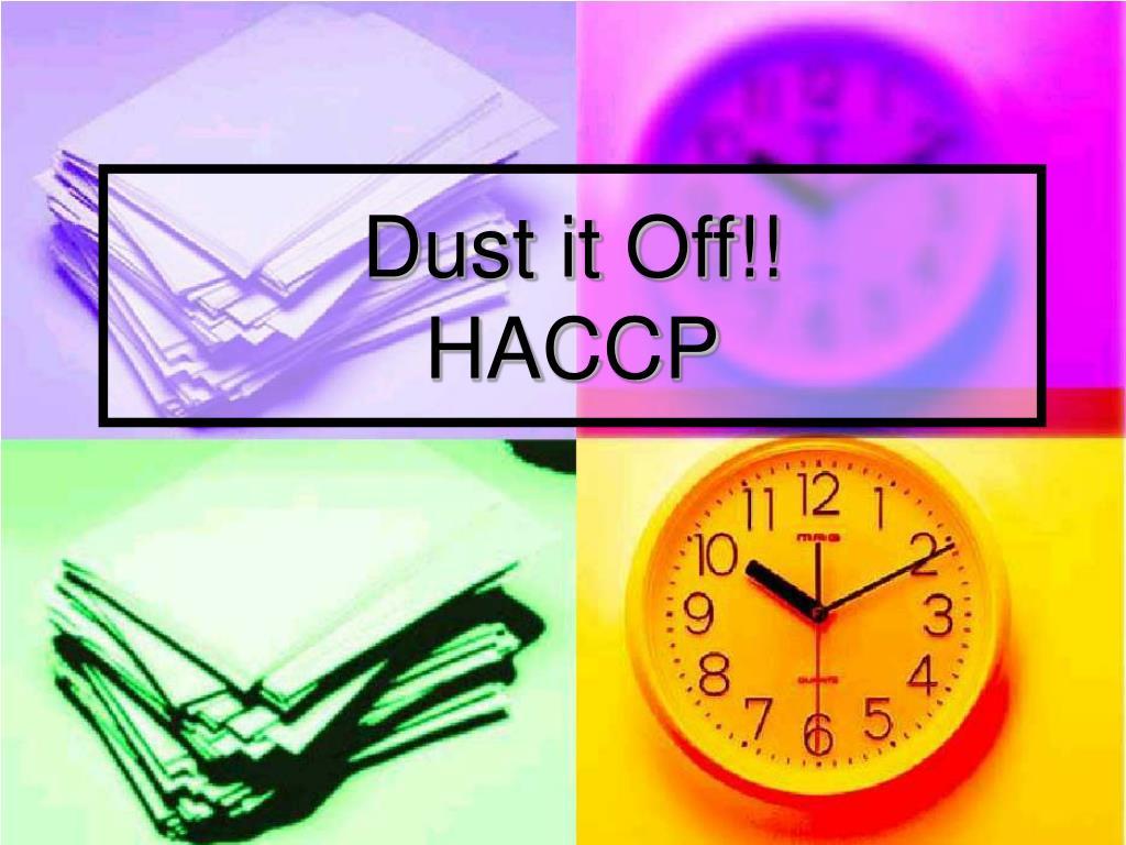 dust it off haccp l.