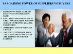 bargaining power of suppliers vs buyers