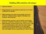building differentiation advantages