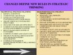 changes define new rules in strategic thinking