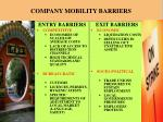 company mobility barriers