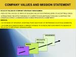 company values and mission statement