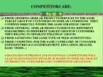 competitors are
