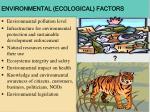 environmental ecological factors