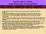 some conclusions for strategic management