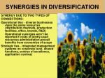 synergies in diversification