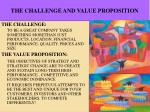 the challenge and value proposition