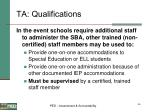 ta qualifications46