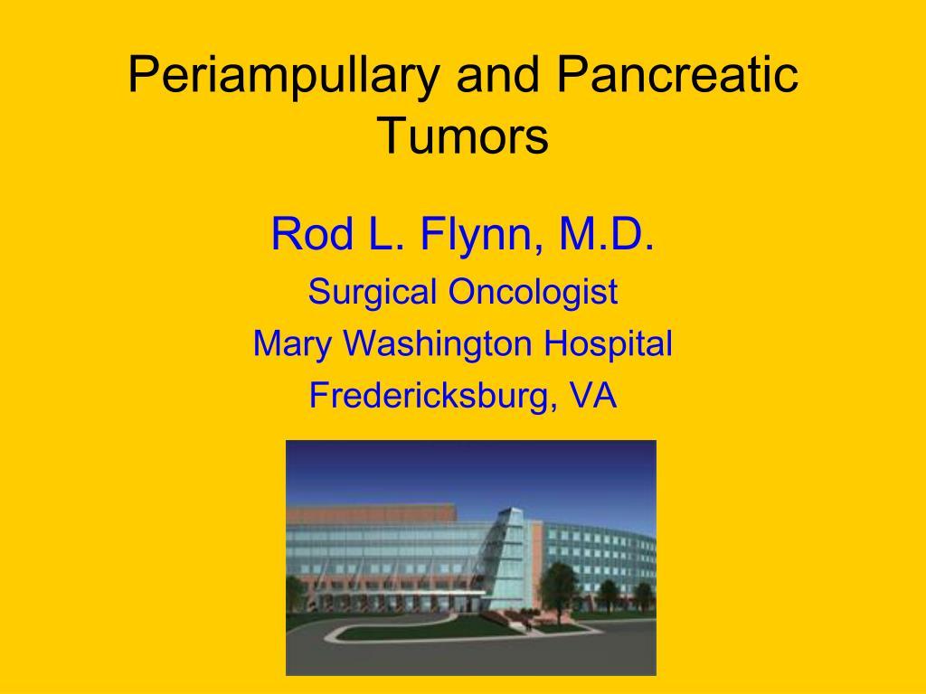Periampullary and Pancreatic Tumors