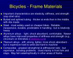 bicycles frame materials