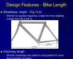design features bike length