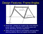 design features frame angles