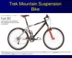 trek mountain suspension bike