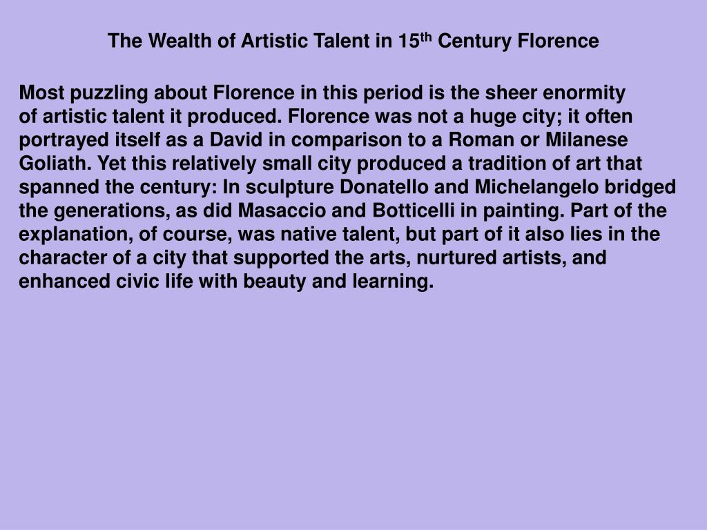 The Wealth of Artistic Talent in 15