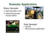 granular applicators
