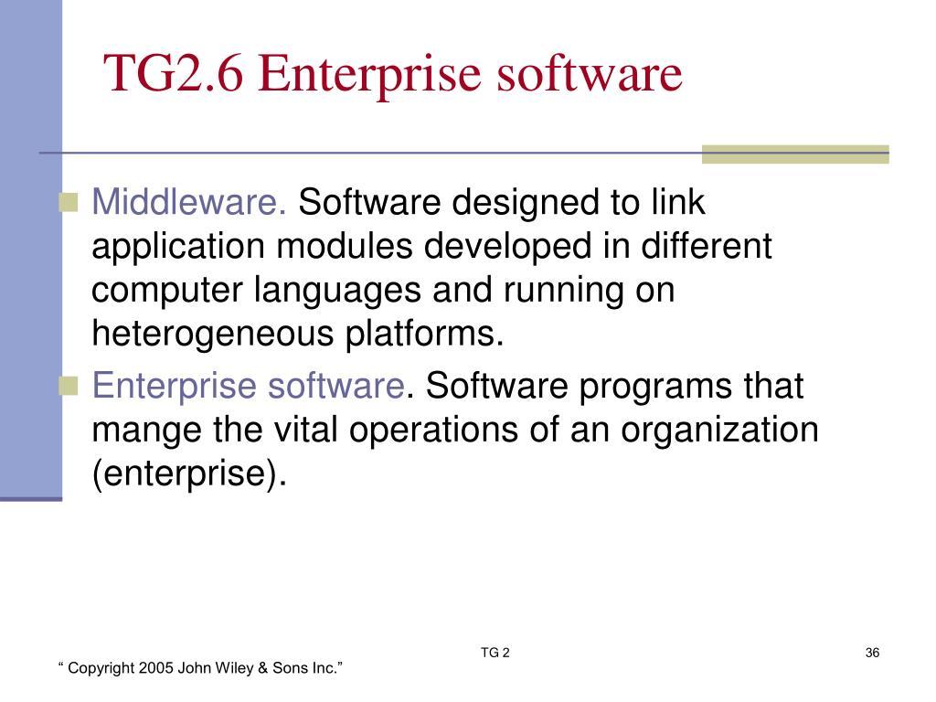 TG2.6 Enterprise software