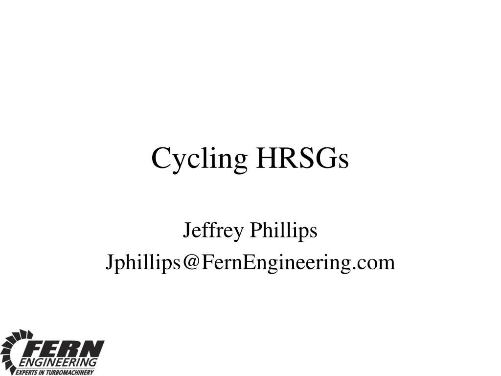 Cycling HRSGs