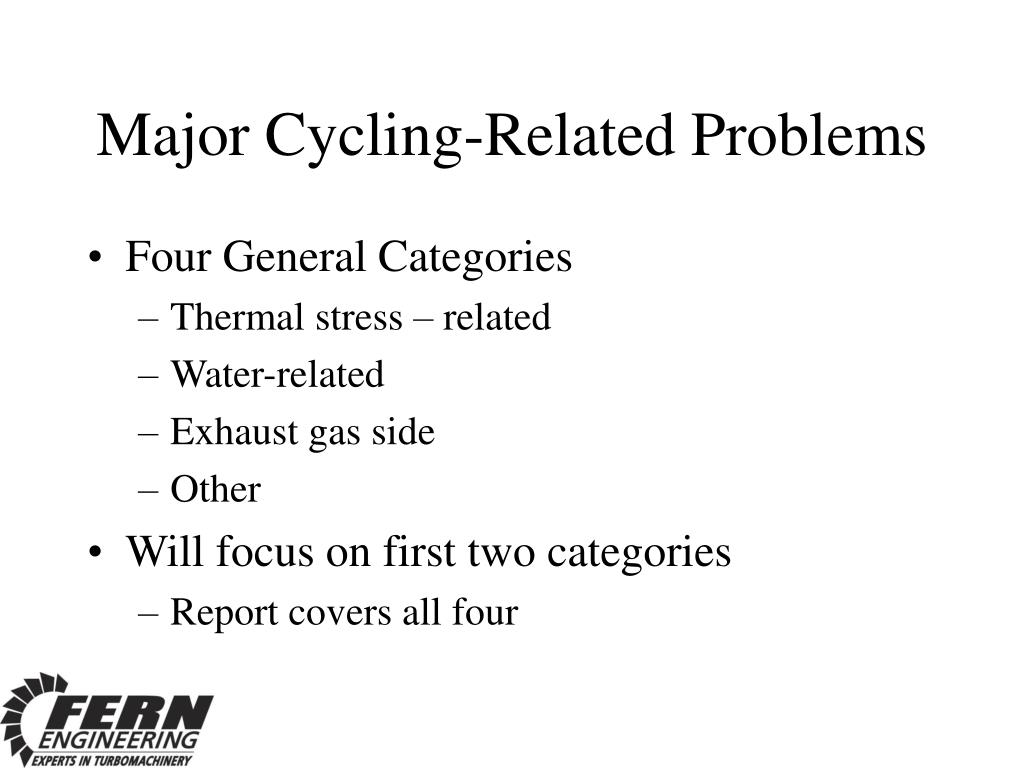 Major Cycling-Related Problems