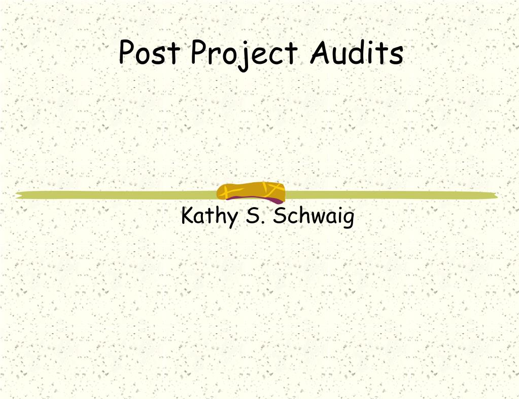 post project audits l.