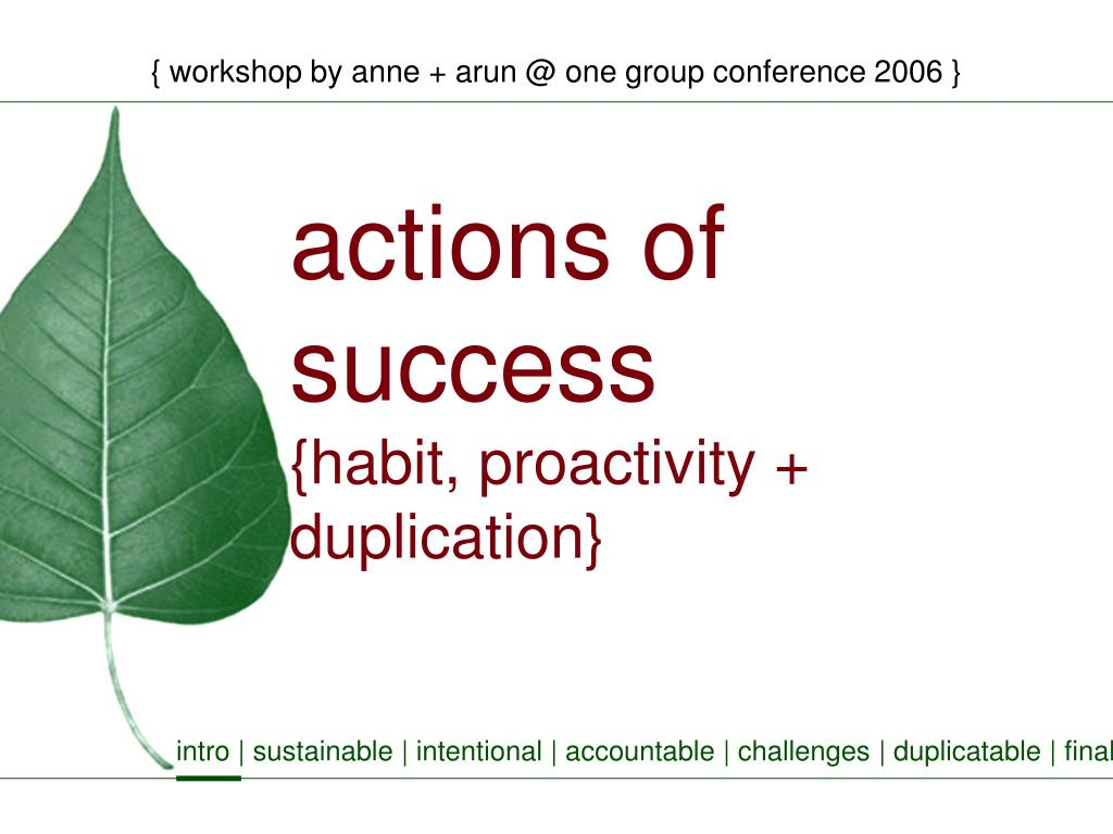 workshop by anne arun @ one group conference 2006 l.