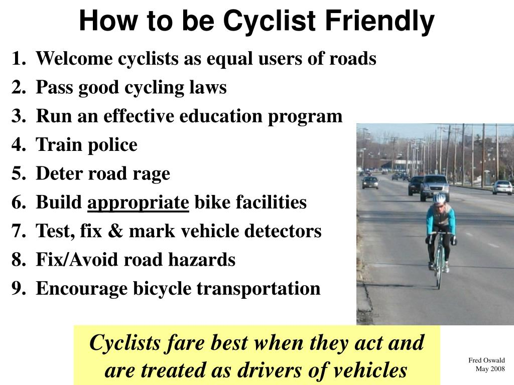 How to be Cyclist Friendly